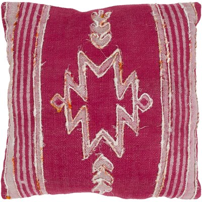 Barrera 100% Cotton Throw Pillow Color: Bright Pink, Fill Material: Poly Fill