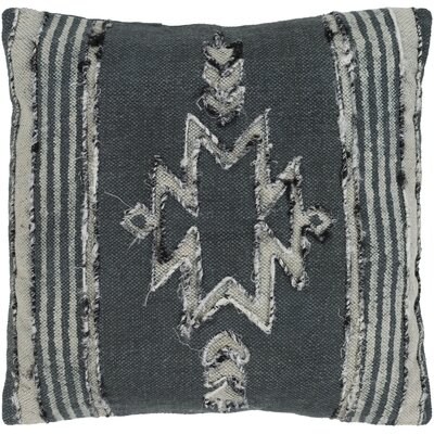 Barrera 100% Cotton Pillow Cover Color: Charcoal