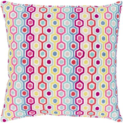 Astrid 100% Cotton Throw Pillow Size: 18 H x 18 W x 3.5 D