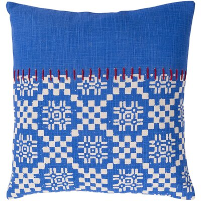 Mayson 100% Cotton Pillow Cover Size: 22 H x 22 W, Color: Bright Blue
