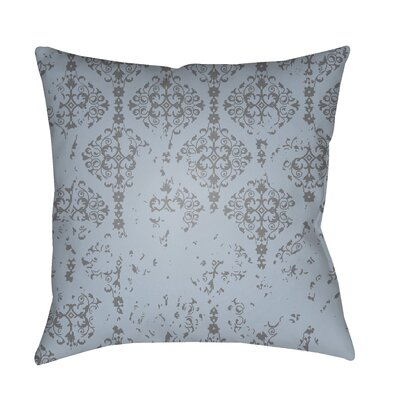 Patridge Damask Indoor/Outdoor Square Throw Pillow Color: Charcoal