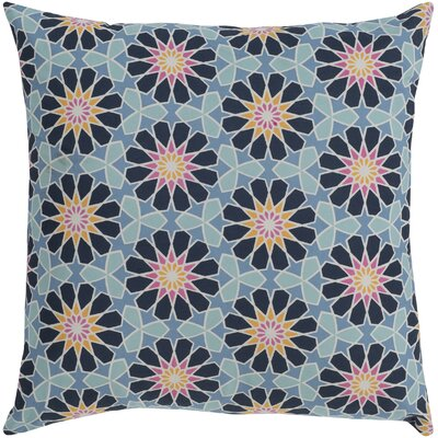 Neiman 100% Cotton Throw Pillow Size: 18 H x 18 W x 3.5 D, Color: Denim, Fill Material: Polyfill
