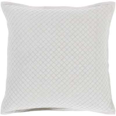 Troene Square 100% Cotton Pillow Cover Size: 18 H x 18 W, Color: Blush