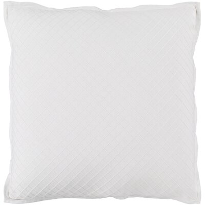 Troene 100% Cotton Throw Pillow Size: 18 H x 18 W, Color: Sea Foam, Fill Material: Down Fill