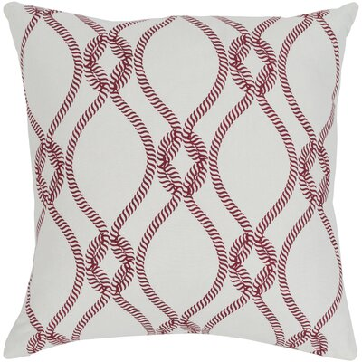 Gates 100% Cotton Throw Pillow Size: 18 H x 18 W, Color: Bright Red, Fill Material: Poly Fill