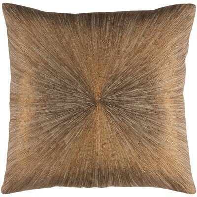 Wesley 100% Cotton Throw Pillow Color: Khaki, Fill Material: Polyfill