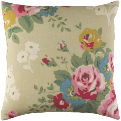Aleena Throw Pillow Size: 18 H x 18 W x 3.5 D, Fill Material: Down Fill, Color: Biege/Pink