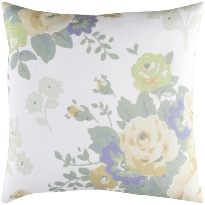 Aleena Pillow Cover Size: 20 H x 20 W x 3.5 D, Color: White/Yellow
