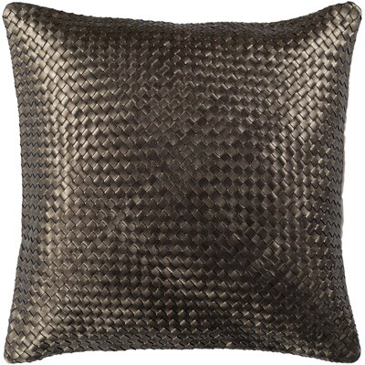 Sherlene Pillow Cover Color: Dark Brown