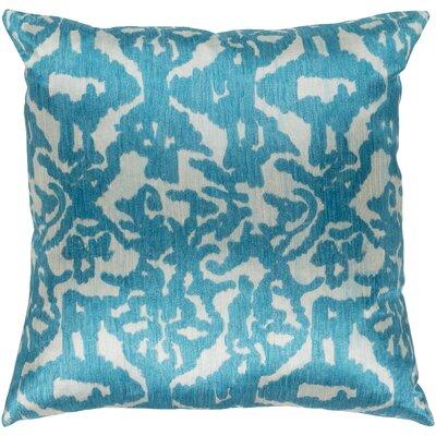 Tatum Throw Pillow Size: 18 H x 18 W x 3.5 D, Color: Light Blue
