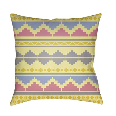 Colinda Pillow Cover Size: 18 H x 18 W x 3.5 D, Color: Yellow