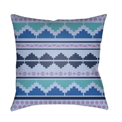 Colinda Pillow Cover Size: 22 H x 22 W x 4.5 D, Color: Aqua