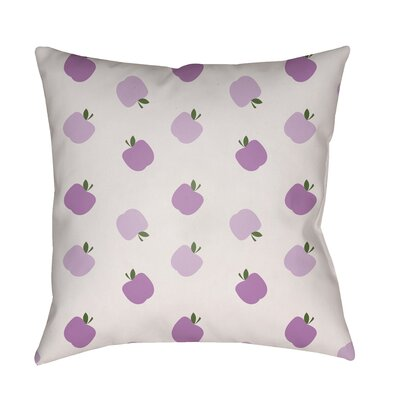 Maggie Indoor/Outdoor Throw Pillow Size: 18 H x 18 W x 3.5 D, Color: Purple