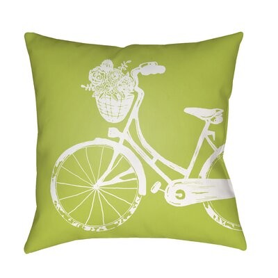 Braelynn Indoor/Outdoor Throw Pillow Size: 18 H x 18 W x 3.5 D, Color: Lime
