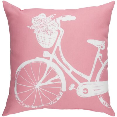 Braelynn Indoor/Outdoor Throw Pillow Size: 20 H x 20 W x 3.5 D, Color: Pink