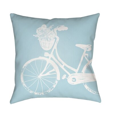 Braelynn Indoor/Outdoor Throw Pillow Size: 18 H x 18 W x 3.5 D, Color: Light Blue