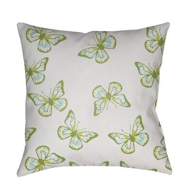 Sanchez Indoor/Outdoor Throw Pillow Size: 18 H x 18 W x 3.5 D, Color: Beige/Green