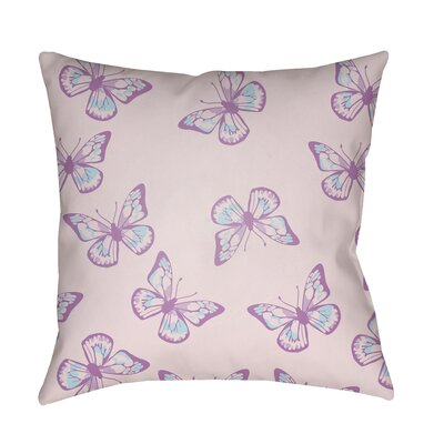 Sanchez Indoor/Outdoor Throw Pillow Size: 18 H x 18 W x 3.5 D, Color: Light Pink