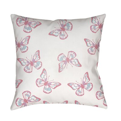 Sanchez Indoor/Outdoor Throw Pillow Size: 20 H x 20 W x 3.5 D, Color: White/Pink
