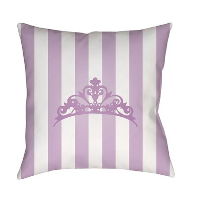 Genevieve Indoor/Outdoor Throw Pillow Size: 18 H x 18 W x 3.5 D, Color: Purple