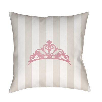 Genevieve Indoor/Outdoor Throw Pillow Size: 20 H x 20 W x 3.5 D, Color: Beige/Pink