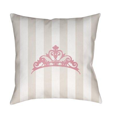 Genevieve Indoor/Outdoor Throw Pillow Size: 18 H x 18 W x 3.5 D, Color: Beige/Pink