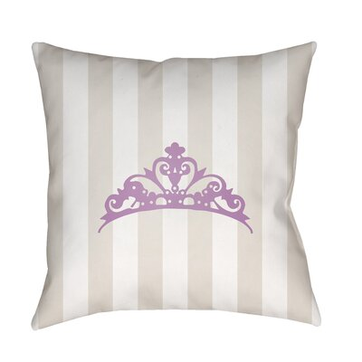 Genevieve Indoor/Outdoor Throw Pillow Size: 18 H x 18 W x 3.5 D, Color: Tan/Purple