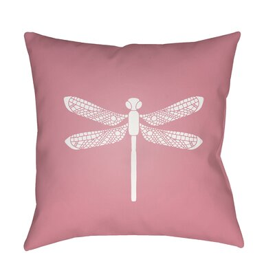 Perez Indoor/Outdoor Throw Pillow Size: 18 H x 18 W x 3.5 D, Color: Dark Pink