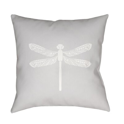Perez Indoor/Outdoor Throw Pillow Size: 18 H x 18 W x 3.5 D, Color: Light Gray