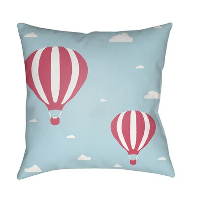 Iris Pillow Cover Size: 20 H x 20 W x 3.5 D, Color: Light Blue