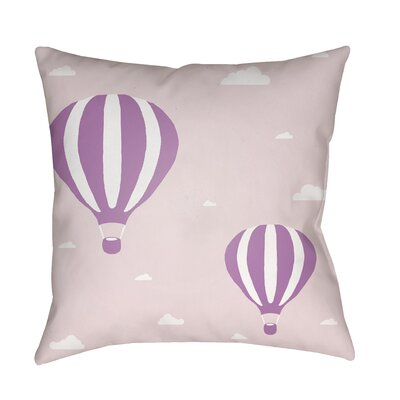 Iris Pillow Cover Size: 18 H x 18 W x 3.5 D, Color: Pink