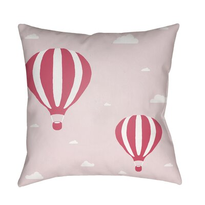Iris Pillow Cover Size: 18 H x 18 W x 3.5 D, Color: Light Pink