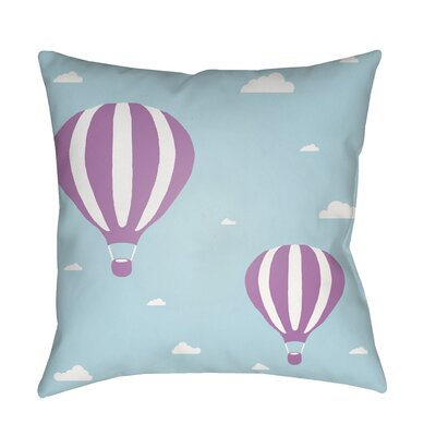 Iris Pillow Cover Size: 18 H x 18 W x 3.5 D, Color: Aqua