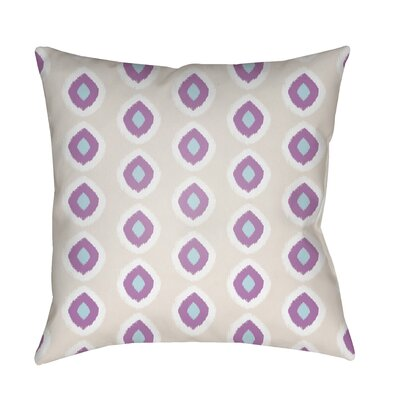 Malachi Circles Indoor/Outdoor Pillow Cover Size: 18 H x 18 W x 3.5 D, Color: Tan/Purple
