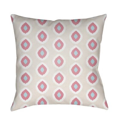 Malachi Circles Indoor/Outdoor Pillow Cover Size: 18 H x 18 W x 3.5 D, Color: Tan/Pink