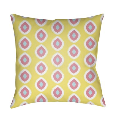 Malachi Circles Indoor/Outdoor Pillow Cover Size: 18 H x 18 W x 3.5 D, Color: Yellow