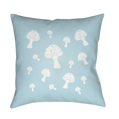 Kayla Mushrooms Indoor/Outdoor Throw Pillow Size: 18 H x 18 W x 3.5 D, Color: Blue