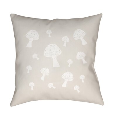 Kayla Mushrooms Indoor/Outdoor Throw Pillow Size: 18 H x 18 W x 3.5 D, Color: Tan