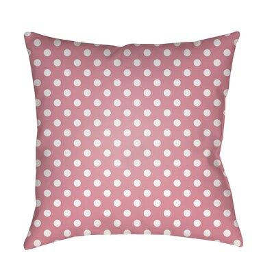 Lynda Indoor/Outdoor Throw Pillow Size: 18 H x 18 W x 3.5 D, Color: Pink