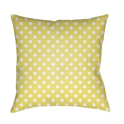 Derrick Indoor/Outdoor Throw Pillow Size: 18 H x 18 W x 3.5 D, Color: Yellow