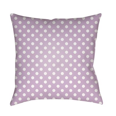 Lynda Indoor/Outdoor Throw Pillow Size: 18 H x 18 W x 3.5 D, Color: Purple
