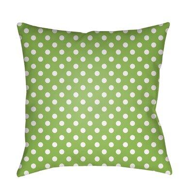 Lynda Indoor/Outdoor Throw Pillow Size: 18 H x 18 W x 3.5 D, Color: Green