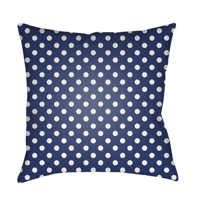 Lynda Indoor/Outdoor Throw Pillow Size: 20 H x 20 W x 3.5 D, Color: Dark Blue