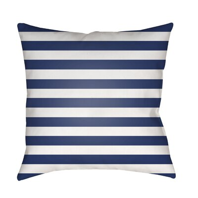 Ghent Stripe Indoor/Outdoor Throw Pillow Size: 20 H x 20 W x 3.5 D, Color: Dark Blue