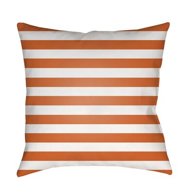 Ghent Stripe Indoor/Outdoor Throw Pillow Size: 18 H x 18 W x 3.5 D, Color: Orange