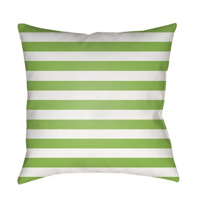 Ghent Prepster Stripe Indoor/Outdoor Throw Pillow Size: 18 H x 18 W x 3.5 D, Color: Green