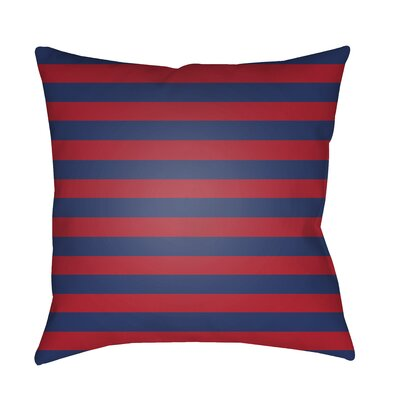 Ghent Prepster Stripe Indoor/Outdoor Throw Pillow Size: 20 H x 20 W x 3.5 D, Color: Red