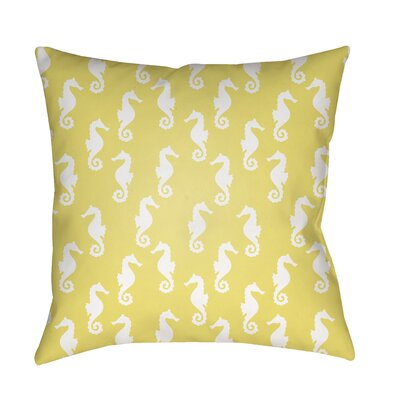 Gerry Sea Indoor/Outdoor Throw Pillow Size: 18 H x 18 W x 3.5 D, Color: Yellow