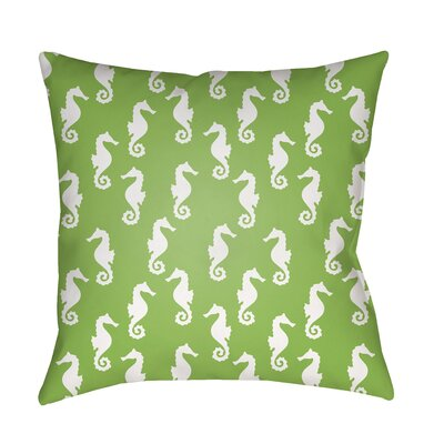 Gerry Sea Indoor/Outdoor Throw Pillow Size: 20 H x 20 W x 3.5 D, Color: Green