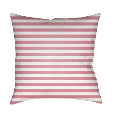 Arya Seersucker Indoor/Outdoor Throw Pillow Size: 18 H x 18 W x 3.5 D, Color: Light Pink